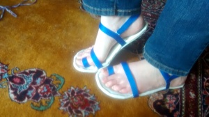 Three Dollar Homemade Sandals